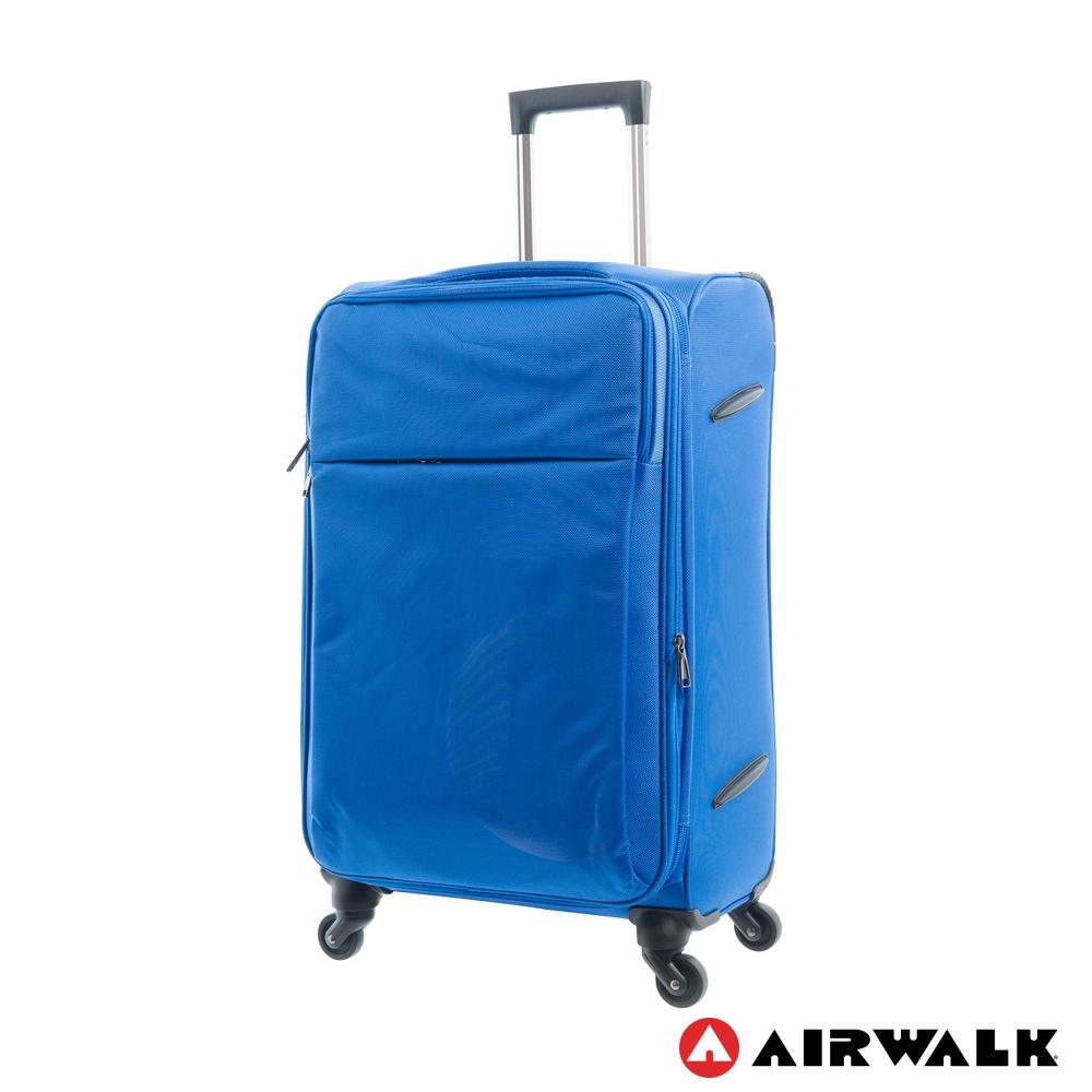 AIRWALK LUGGAGE-輕量系列 寄情物語行李箱 24吋拉鍊布箱 - 晴語藍