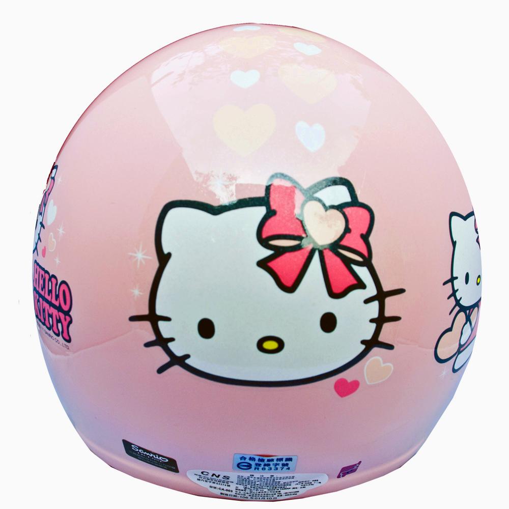 Hello Kitty凱蒂貓粉色兒童半罩安全帽中童