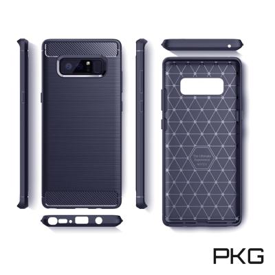 PKG  SAMSUNG NOTE8 抗震防摔手機殼-碳纖維紋系列-經典藍