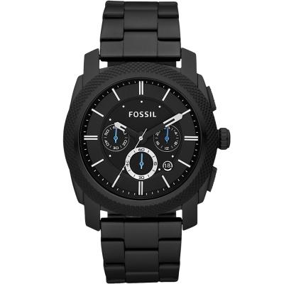 FOSSIL Machine王者風範三眼計時腕錶-黑/45mm