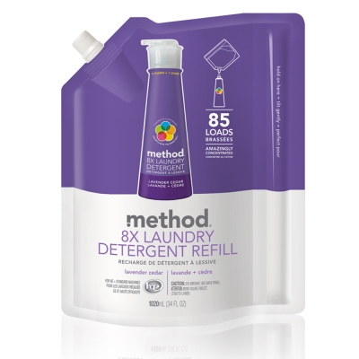 Method 美則 八倍濃縮智慧環保洗衣精-薰衣草(補充包)1020ml
