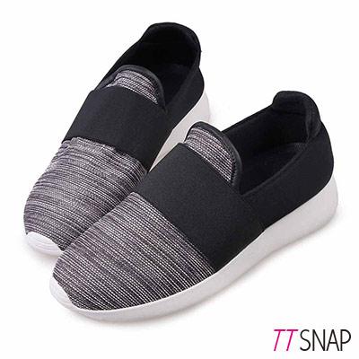 TTSNAP懶人鞋-MIT都會運動風輕量休閒鞋 黑