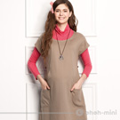 ohoh-mini典雅立體OL短袖寬版哺乳洋裝
