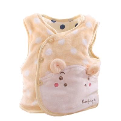 小河馬嬰幼兒鋪棉絲絨保暖外套 黃  k60054