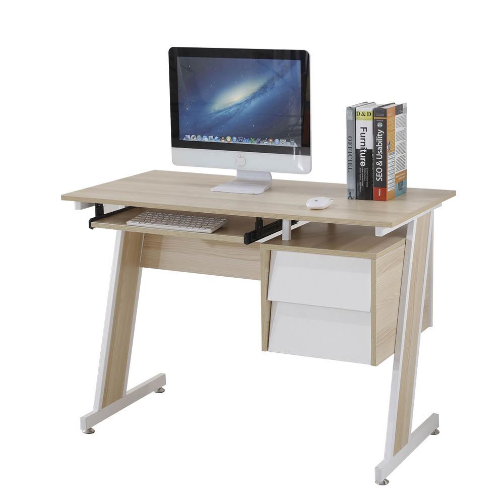 AT HOME -史考特3.5尺梧桐二抽電腦書桌 105*55*75cm