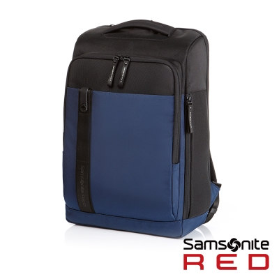 Samsonite RED ELIUN 簡約休閒中性筆電後背包-M15.6吋(海軍藍)