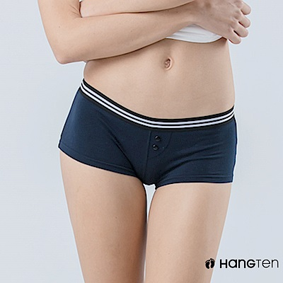 HANG TEN  舒適包臀素色平口內褲_丈青(HT-C22001)