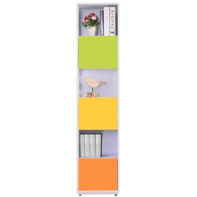 AT HOME-芬妮1.35尺彩色三單門書櫃