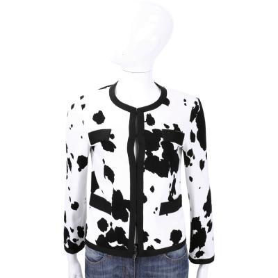 BOUTIQUE MOSCHINO 黑白色乳牛斑紋外套
