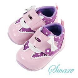 Swan天鵝童鞋-可愛點點鏡面機能鞋1489-紫