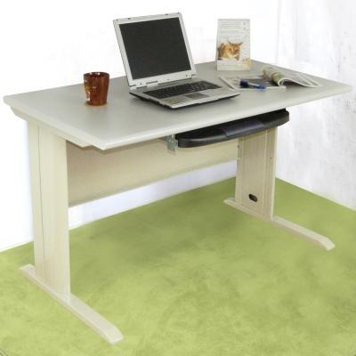 時尚屋 4尺CD灰色鍵盤抽辦公桌 寬120cm-DIY