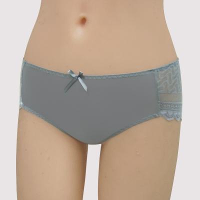 曼黛瑪璉-15AW-V極線  低腰寬邊三角無痕褲(星燦灰)