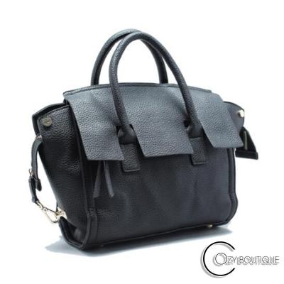 COZY BOUTIQUE 側肩背 伏爾泰荔枝紋斜背手提包 共二色