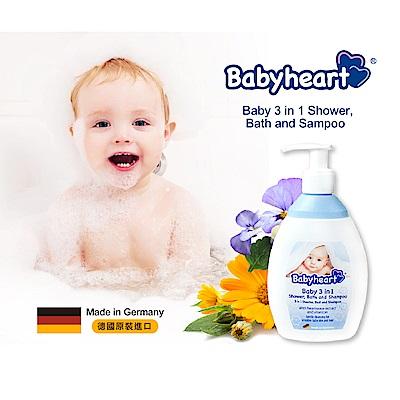 Babyheart 嬰兒3in1洗髮沐浴泡澡露 (三色堇 金盞花) 250ml
