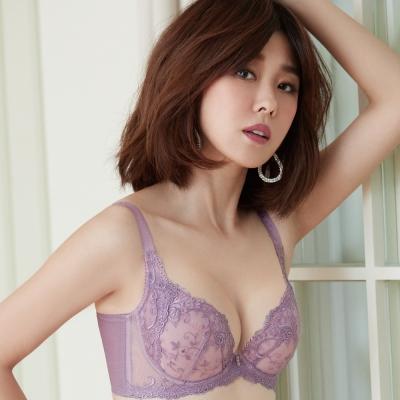 推Audrey-魔塑VBRA 大罩杯C-F罩內衣(粉戀紫)