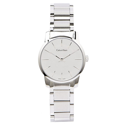 CK Calvin KleinCity 城市極簡未來感銀色女性腕錶-鏡面/31mm