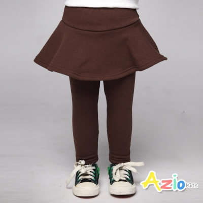 Azio Kids 童裝-內搭褲裙 不倒絨傘襬內搭褲裙(咖啡)
