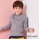 Little-moni-歐式氣質立領毛衣-深藍