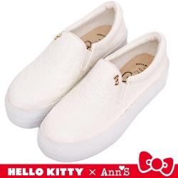 HELLO KITTY X Ann'S 和妳在一起厚底懶人鞋 白