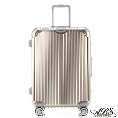 ABS愛貝斯 M8系列 24吋鏡面飛機輪旅行箱(金)99-052B