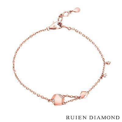 RUIEN DIAMOND 韓國輕珠寶 飾品 配件14K玫瑰金 手鍊 LB128