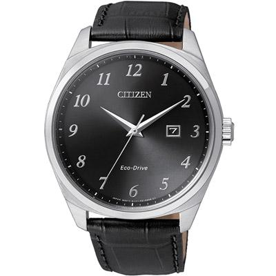 CITIZEN 星辰 光動能紳士時尚腕錶(BM7320-01E) -黑/42mm