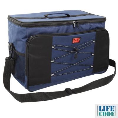 LIFECODE 大歐風保冰袋/保溫袋/購物袋 XL號(35L) -藏青色