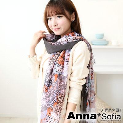 AnnaSofia-花繪線萃-高密度加大加寬圍巾