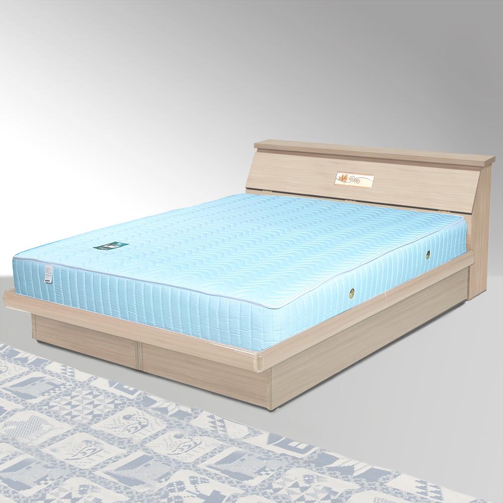 Homelike 席歐5尺掀床組+獨立筒床墊-雙人(二色任選)