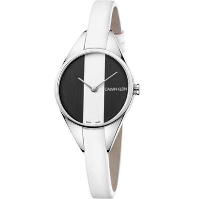 ck錶 Rebel 叛逆衝突美感時尚錶(K8P231L1)黑與白/29mm