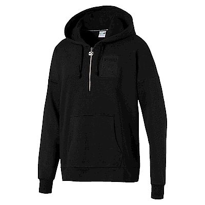 PUMA-男性流行系列浮雕Logo長厚連帽T恤-黑色-亞規