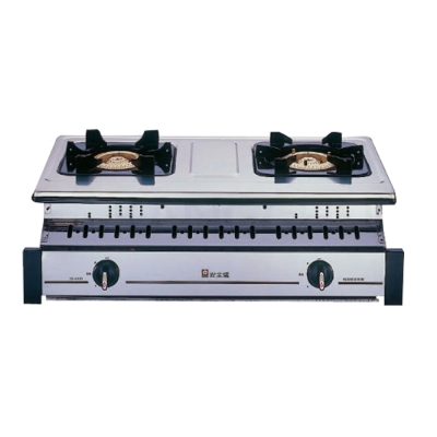 櫻花牌 G-6320K 純銅爐頭全白鐵崁入式二口瓦斯爐