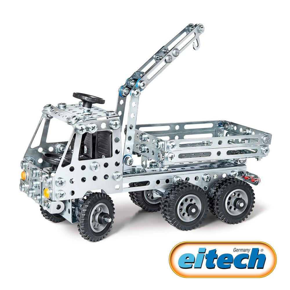 【德國eitech】益智鋼鐵玩具-起重機卡車-C301