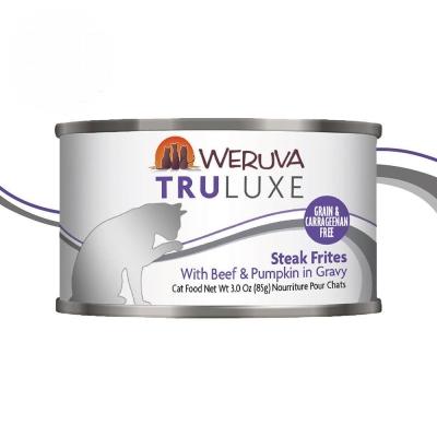TruLuxe特萊斯 貓咪無穀主食罐-法式牛排三重奏85g【單罐】