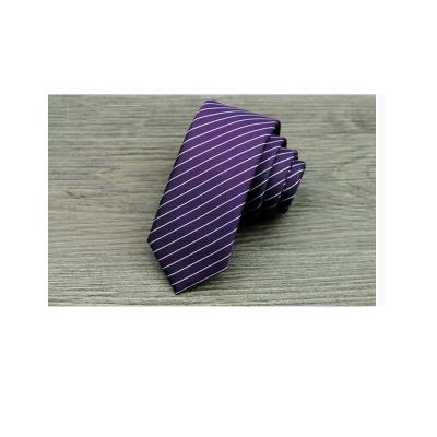 拉福 領帶窄版領帶5.5cm防水領帶拉鍊領帶 紫