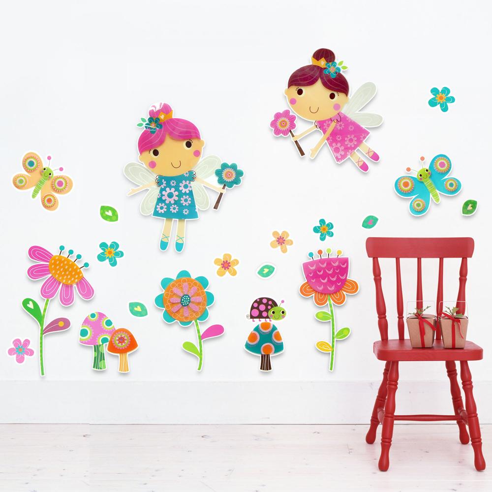 【Wally Fun】3D立體PVC壁貼 ~ 可愛的蝴蝶仙子 (LOK1009)