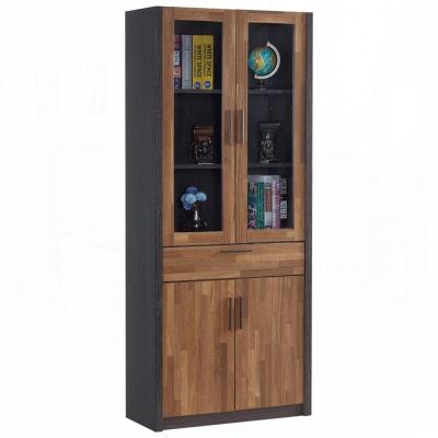 AT HOME - 雷恩2.7尺雙色中抽書櫃 80x39x190cm