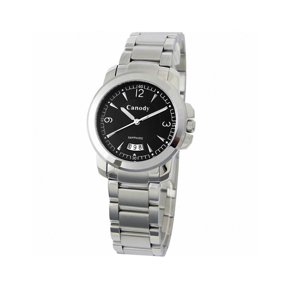 Canody 流轉時光藍寶石鏡面腕錶-黑/小-33mm