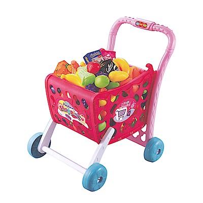 家家酒玩具 聲光購物推車 粉紅色 5961A
