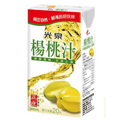 光泉楊桃汁300ml   (24入/箱)