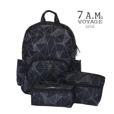 美國【7A.M.】平衡感後揹包(三角幾何)