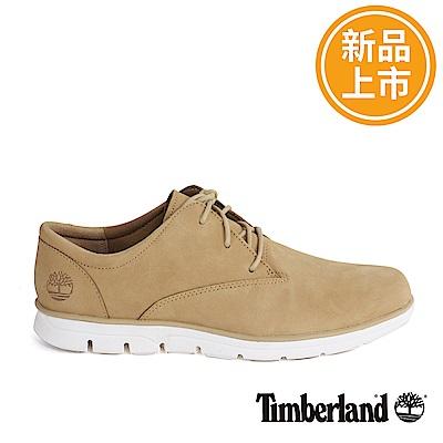 Timberland 男款淺咖啡色絨面皮革淺口鞋