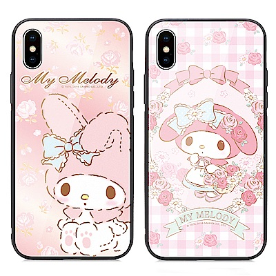 GARMMA My Melody iPhone X 鋼化玻璃殼