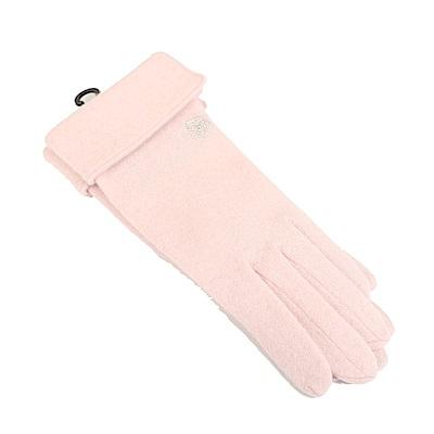 CLATHAS 安哥拉混羊毛反折觸控手套(粉色)