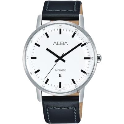 ALBA雅柏 PRESTIGE系列街頭酷流行手錶(AG8H37X1)-白/39mm
