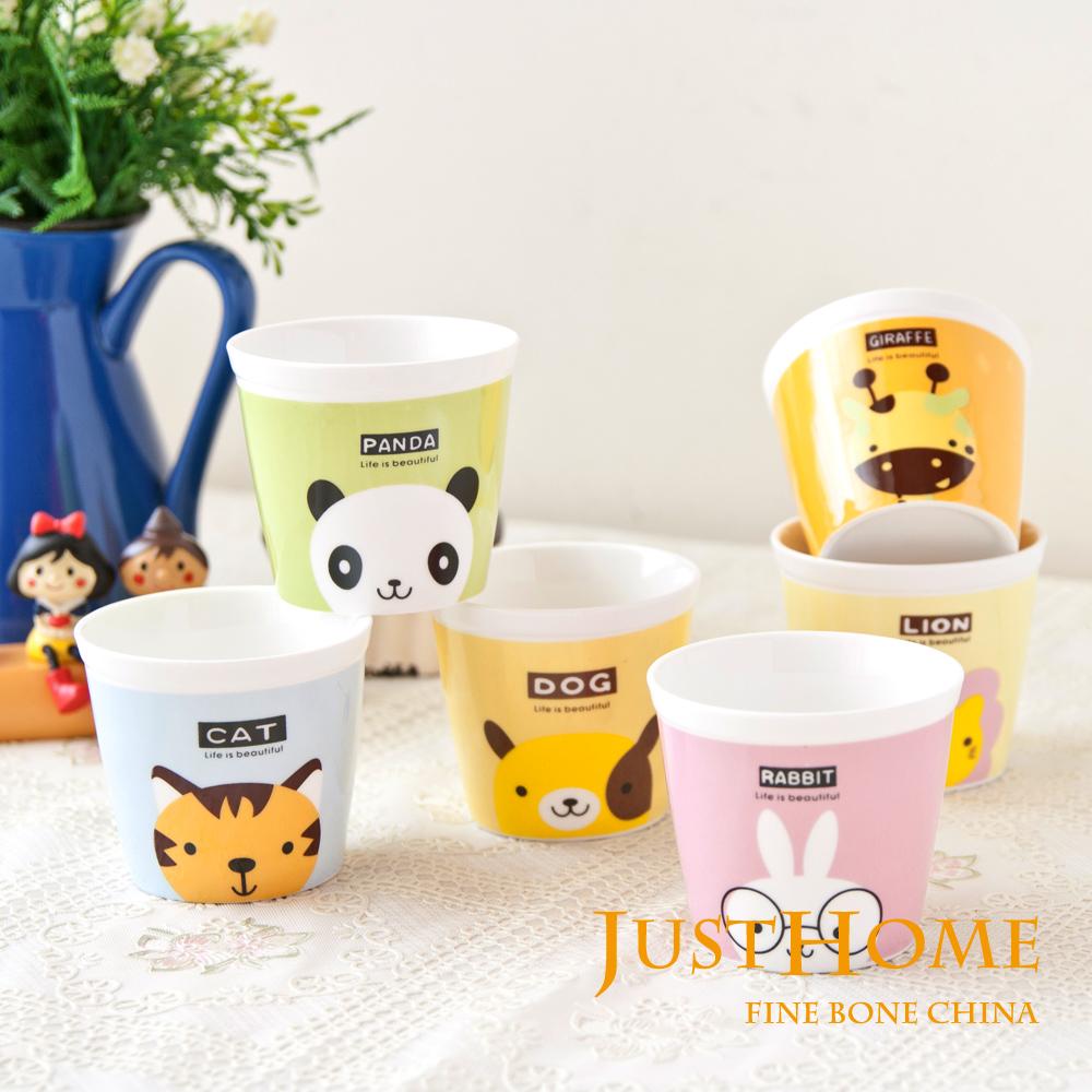 Just Home 動物樂園攜帶式陶瓷杯125ml(6入組)