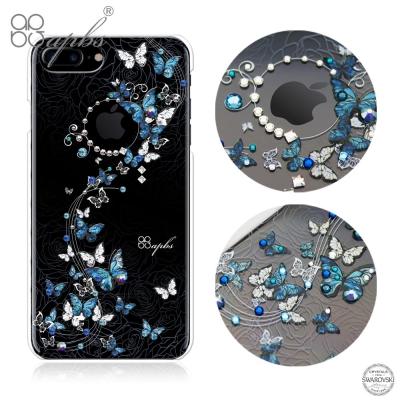 apbs iPhone7 Plus 5.5吋施華洛世奇彩鑽手機殼-藍色圓舞曲