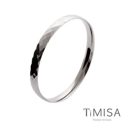 TiMISA《格緻真愛-寬版》純鈦手環