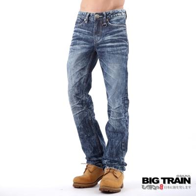 BIG TRAIN 骷髏小直筒-男-淺藍