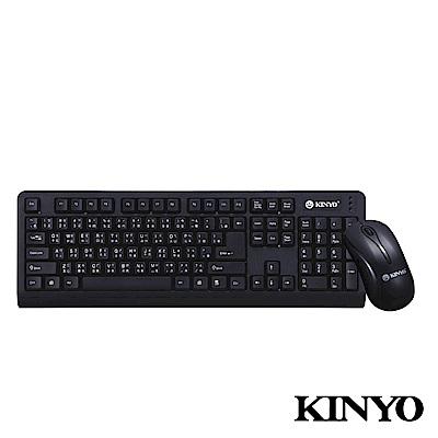 【KINYO】低噪音標準PS2鍵盤+USB滑鼠組 (KBM-360)